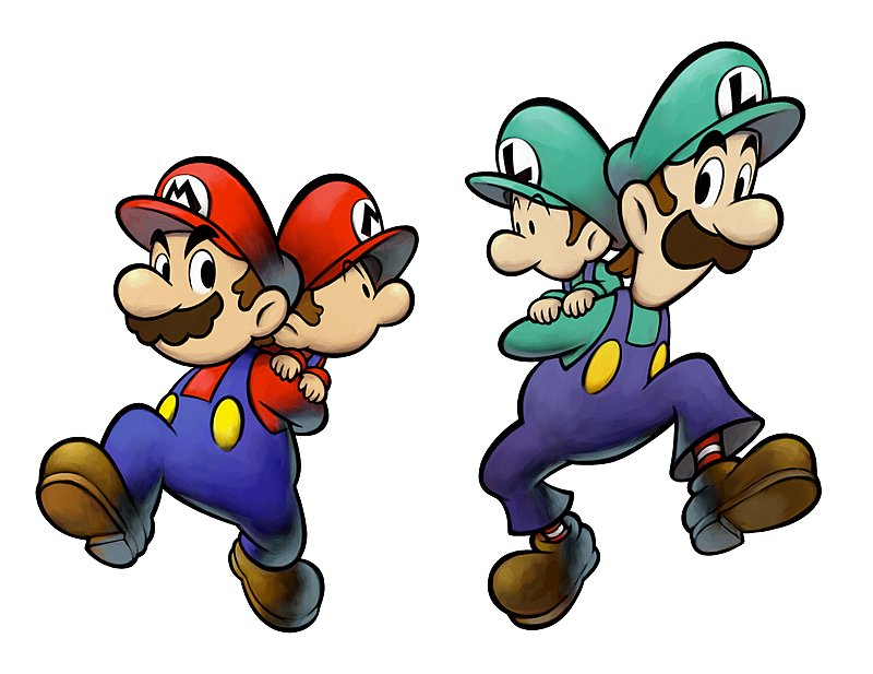 artwork images mario and luigi partners in time ds dsi 1 of 4