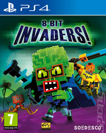 8-Bit Invaders - PS4 Cover & Box Art