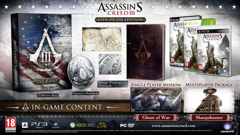 Assassin's Creed III - PC Cover & Box Art
