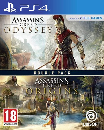 Assassin's Creed: Origins and Assassin's Creed: Odyssey Double Pack  - PS4 Cover & Box Art