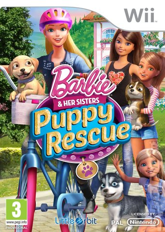 Barbie and Her Sisters: Puppy Rescue - Wii Cover & Box Art