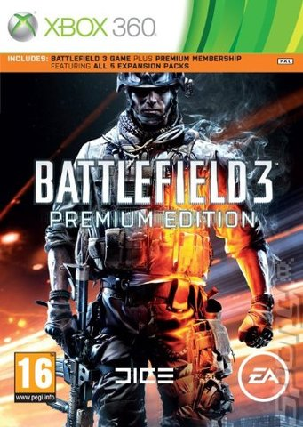 Battlefield 3: Premium Edition - Xbox 360 Cover & Box Art