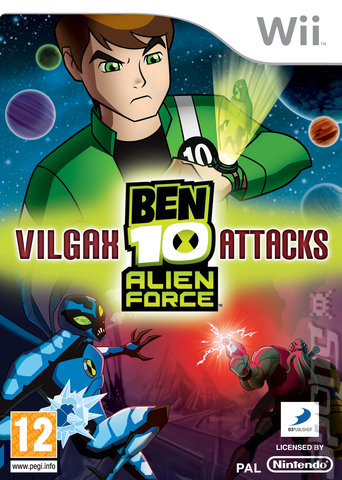 Ben 10 Alien Force: Vilgax Attacks - Wii Cover & Box Art