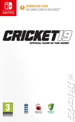 Cricket 19: The Official Game of the Ashes - Switch Cover & Box Art
