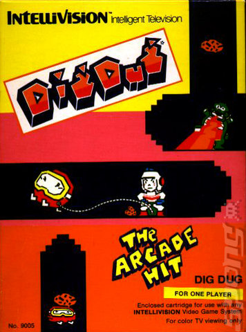 Dig Dug - Intellivision Cover & Box Art