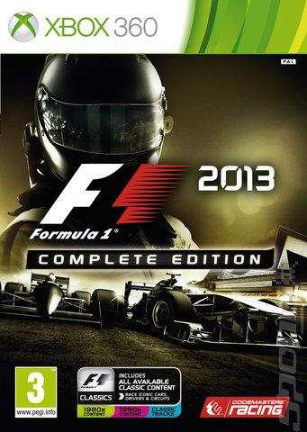 F1 2013: COMPLETE EDITION - Xbox 360 Cover & Box Art