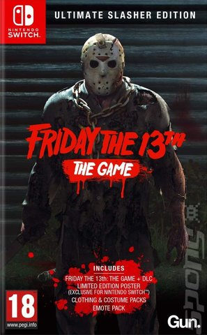 Friday The 13th: The Game - Switch Cover & Box Art