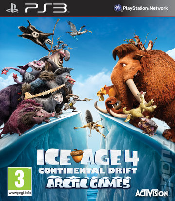 Ice Age 4: Continental Drift: Arctic Games - PS3 Cover & Box Art
