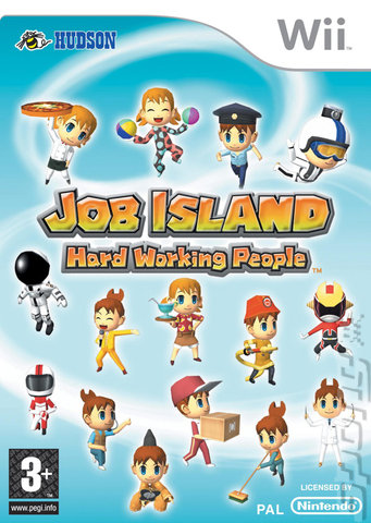 Job Island: Hard Working People - Wii Cover & Box Art