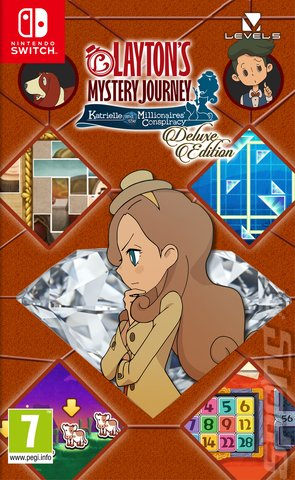 Layton's Mystery Journey: Katrielle and the Millionaires' Conspiracy - Switch Cover & Box Art