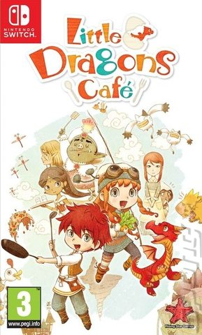 Little Dragons Cafe - Switch Cover & Box Art