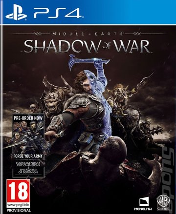 Middle-earth: Shadow of War - PS4 Cover & Box Art