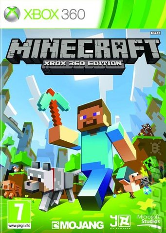 Minecraft - Xbox 360 Cover & Box Art