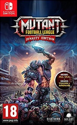 Mutant Football League: Dynasty Edition - Switch Cover & Box Art
