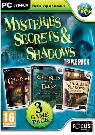 Mysteries, Secrets & Shadows Triple Pack - PC Cover & Box Art
