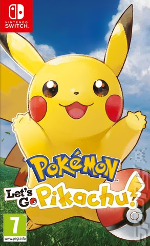 Pokémon: Let's Go, Pikachu! - Switch Cover & Box Art