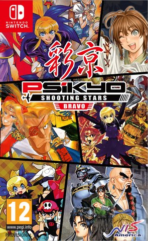 Psikyo Shooting Stars Bravo - Switch Cover & Box Art