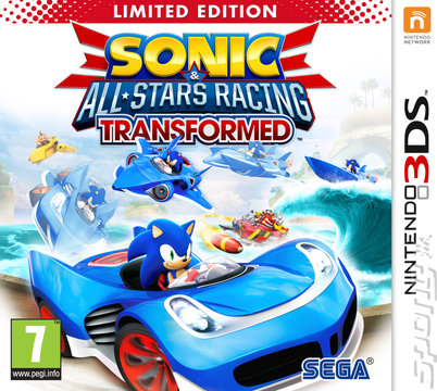 Sonic & All-Stars Racing Transformed - 3DS/2DS Cover & Box Art