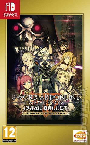 Sword Art Online: Fatal Bullet Complete Edition - Switch Cover & Box Art