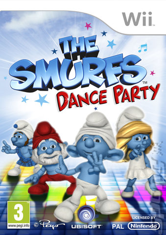 The Smurfs Dance Party - Wii Cover & Box Art