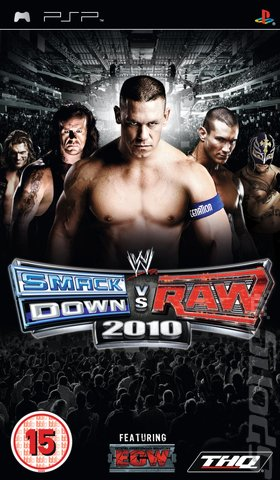 WWE SmackDown vs RAW 2010 - PSP Cover & Box Art