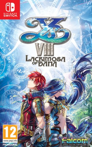 Ys VIII: Lacrimosa of DANA - Switch Cover & Box Art