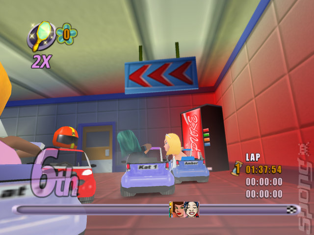 Action Girlz Racing - Wii Screen