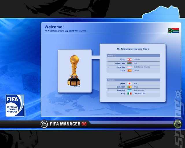 FIFA Manager 08 - PC Screen
