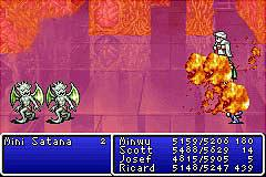 Final Fantasy I & II: Dawn of Souls - GBA Screen