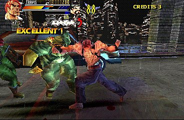 Gekido: Urban Fighters - PlayStation Screen