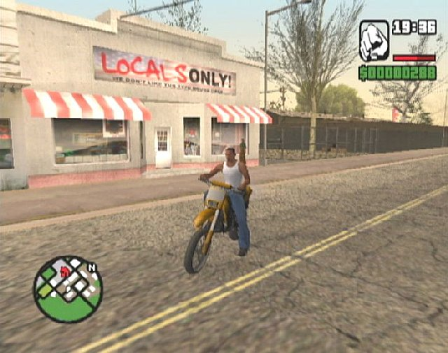 Grand Theft Auto: San Andreas - Xbox Screen