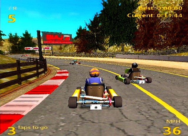 International Super Karts - PS2 Screen