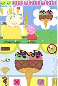 Peppa Pig: Theme Park Fun - DS/DSi Screen