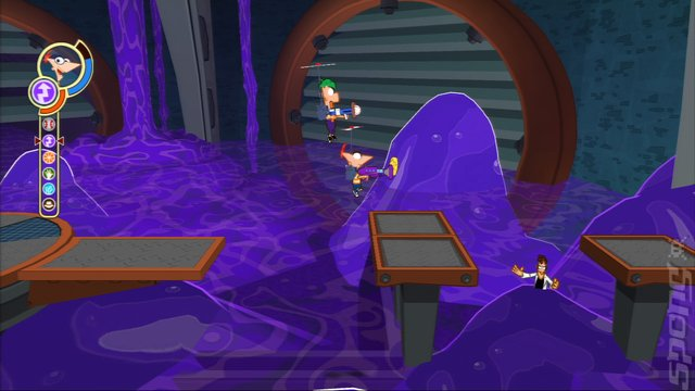 Phineas and Ferb: Across the 2nd Dimension - PS3 Screen