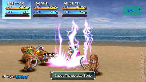 Star Ocean: First Departure - PSP Screen