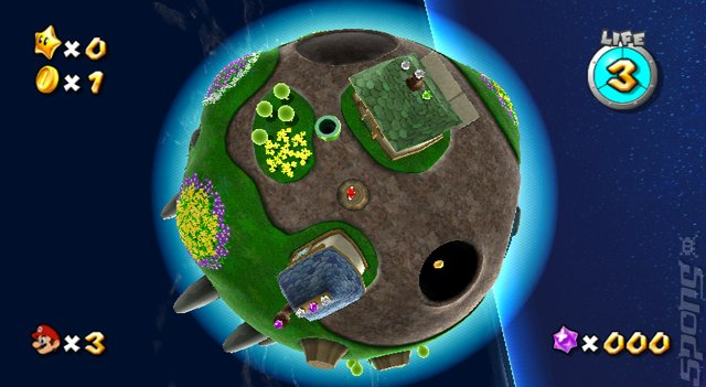 Super Mario Galaxy - Wii Screen