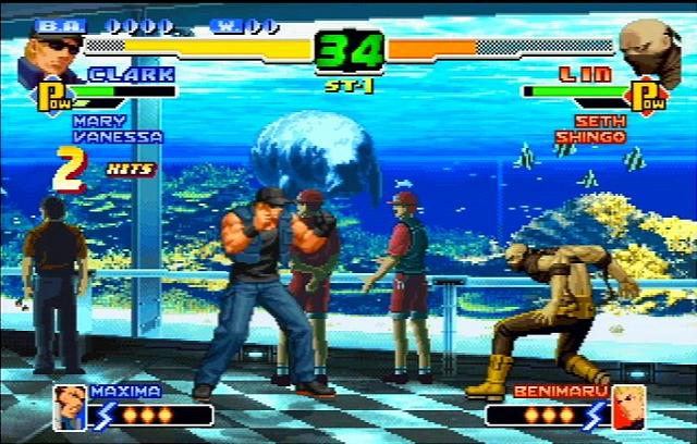 The King of Fighters 2000 & 2001 - PS2 Screen