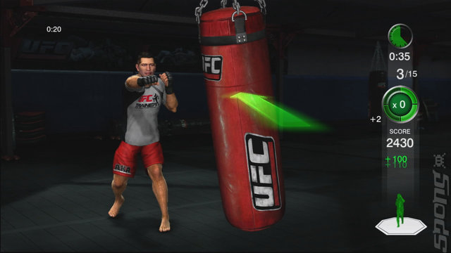 UFC Personal Trainer - Wii Screen