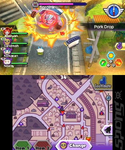 YO-KAI Watch Blasters: White Dog Squad - 3DS/2DS Screen